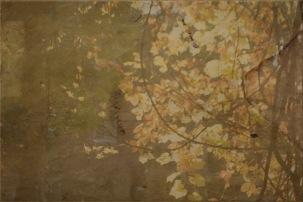 Interweaving manuscripts and autumn landscapes