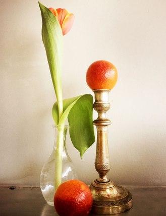 Orange en flammes